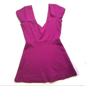 Urban Outfitters Purple Cap Sleeve Skater Dress 4